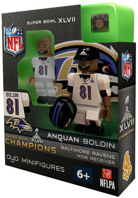 Baltimore Ravens NFL Super Bowl XLVII Champions Anquan Boldin Minifigure