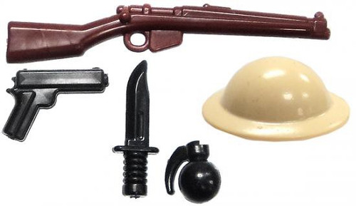 BrickArms British Rifleman Battle Kit Exclusive 2.5-Inch Weapons Pack
