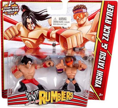 WWE Wrestling Rumblers Series 3 Yoshi Tatsu & Zack Ryder Mini Figure 2-Pack