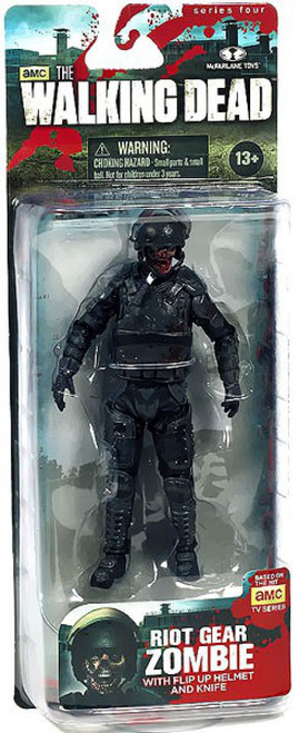 McFarlane Toys The Walking Dead AMC TV Series 4 Riot Gear Zombie Action Figure [Without Gas Mask]