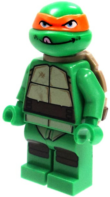 LEGO Teenage Mutant Ninja Turtles Michelangelo Minifigure [Tongue Out Loose]