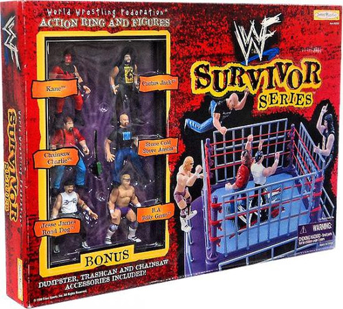 WWE Wrestling WWF Playsets Survivor Series Action Ring and Figures Action Figure Playset