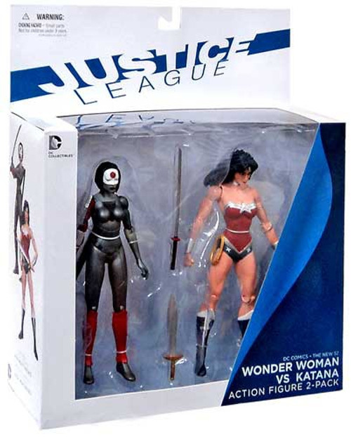 DC Justice League The New 52 Wonder Woman vs. Katana Action Figure 2-Pack