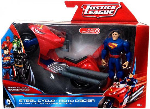 Justice League Superman with Steel Cycle Exclusive Action Figure & Vehicle