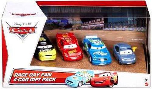 Disney / Pixar Cars Multi-Packs Race Day Fan 4-Car Gift Pack Exclusive Diecast Car Set [Set #2]