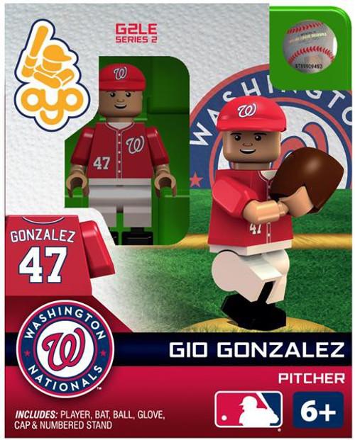 Washington Nationals MLB Generation 2 Series 2 Gio Gonzalez Minifigure