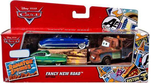 Disney / Pixar Cars Radiator Springs Classic Fancy New Road Gift Pack Exclusive Diecast Car Set