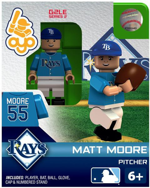 Tampa Bay Rays MLB Generation 2 Series 2 Matt Moore Minifigure