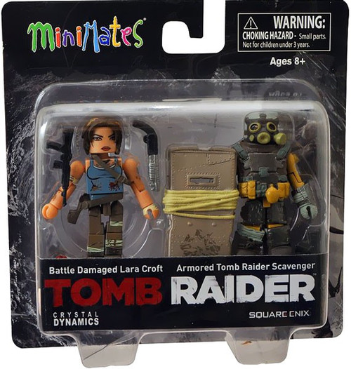 Minimates Battle Damaged Lara Croft & Armored Tomb Raider Scavenger Minifigure 2-Pack