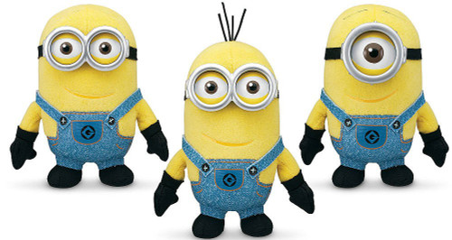 Despicable Me 2 Stuart, Dave & Tim 5-Inch Minion Plush 3-Pack