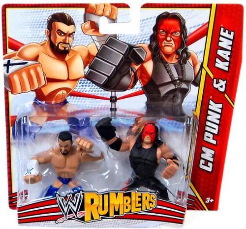 WWE Wrestling Rumblers Series 3 CM Punk & Kane Mini Figure 2-Pack