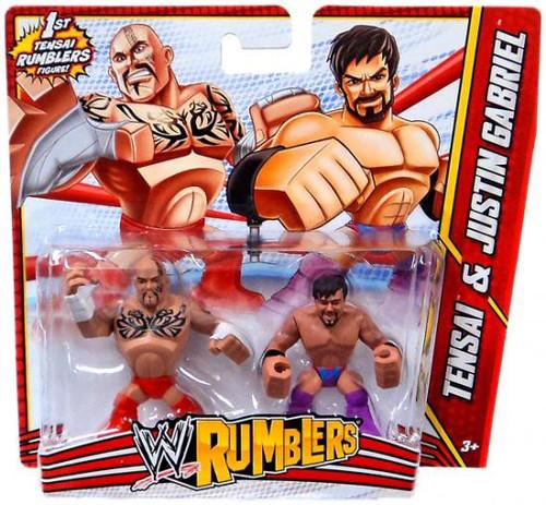 WWE Wrestling Rumblers Series 3 Tensai & Justin Gabriel Mini Figure 2-Pack
