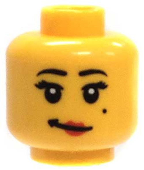 Beauty Mark & Wry Smile Minifigure Head [Yellow Female Loose]