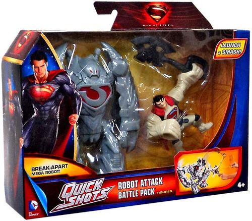 Superman Man of Steel Quick Shots Robot Attack Battle Pack