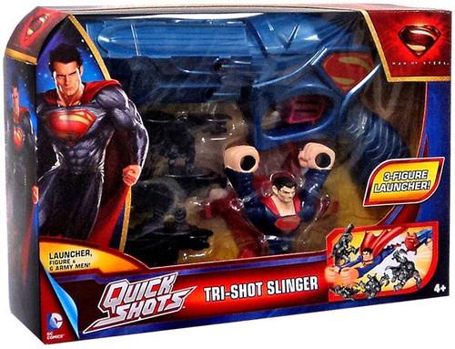 Superman Man of Steel Quick Shots Tri-Shot Slinger Playset