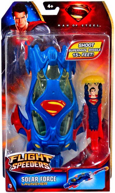 Superman Man of Steel Flight Speeders Solar Force Launcher