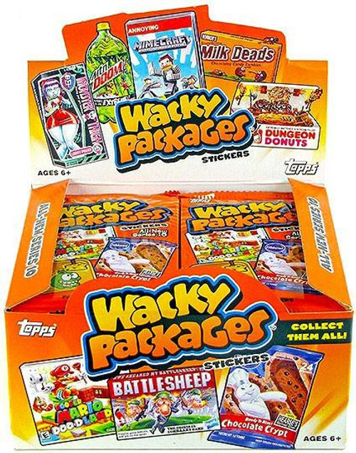 Wacky Packages Topps Series 10 Trading Card Sticker Box [24 Packs]