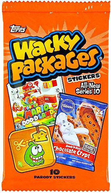 Wacky Packages Topps Series 10 Trading Card Sticker Pack