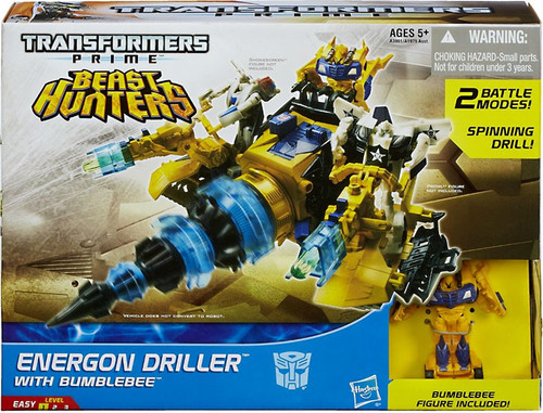 Transformers Prime Beast Hunters Energon Driller with Bumblebee Action Figure Set