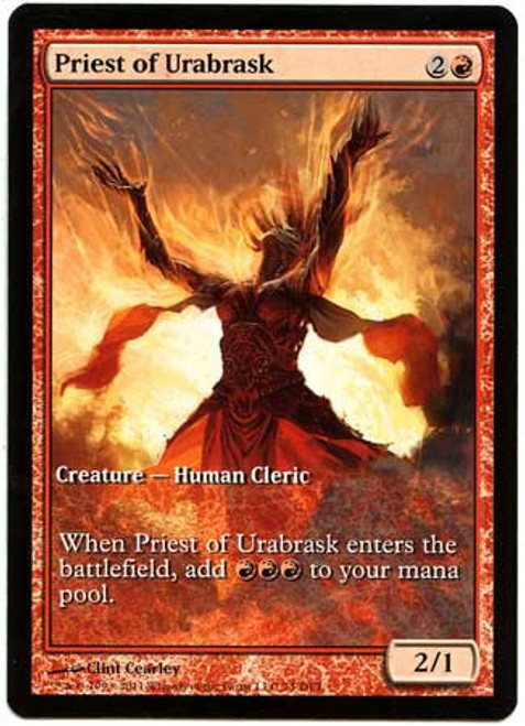 MtG Assorted Promo Cards Promo Priest of Urabrask [Game Day Promo] #74 [Game Day Promo]