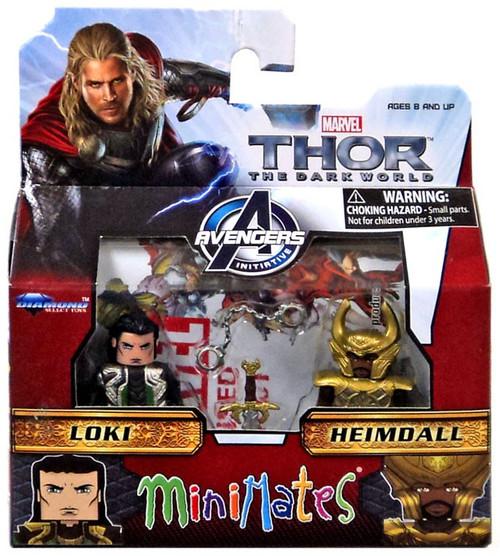 Thor The Dark World Minimates Series 53 Loki & Heimdall Minifigure 2-Pack