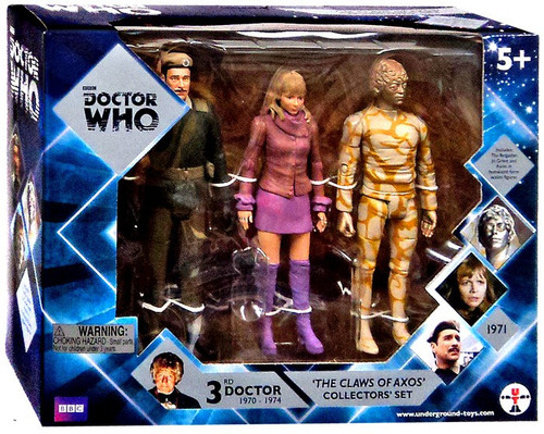 Doctor Who Claws of Axos Action Figure 3-Pack