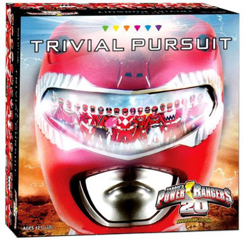Power Rangers 20th Anniversary Edition Trivial Pursuit Board Game