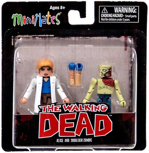 The Walking Dead Minimates Series 4 Alice & Shoulder Zombie Exclusive Minifigure 2-Pack