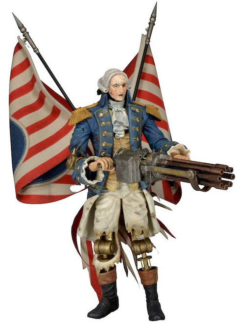 NECA Bioshock Infinite Motorized Patriot George Washington Action Figure