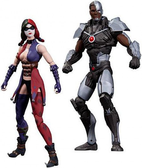 Batman Injustice: Gods Among Us Harley Quinn & Cyborg Action Figure 2-Pack