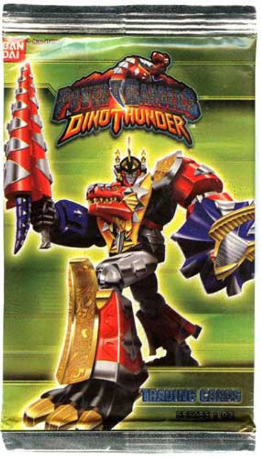 Power Rangers Dino Thunder Series 3 Trading Card Pack [7 Cards]
