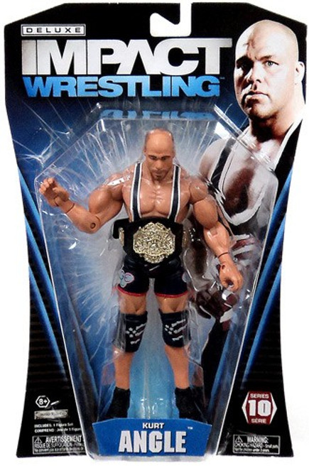 TNA Wrestling Deluxe Impact Series 10 Kurt Angle Action Figure