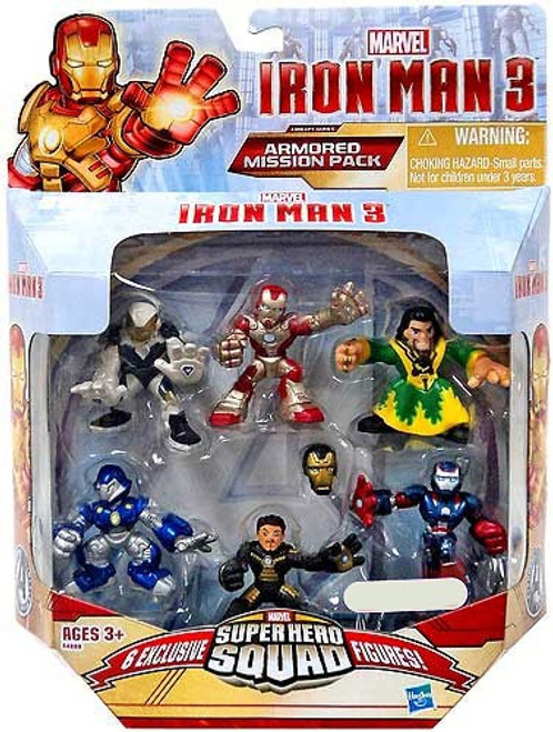 Iron Man 3 Superhero Squad Armored Mission Pack Exclusive Action Figure Set