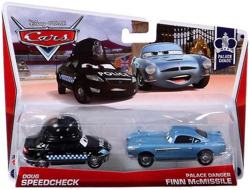 Disney / Pixar Cars Series 3 Doug Speedcheck & Palace Danger Finn McMissile Diecast Car 2-Pack