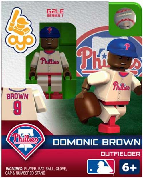 Philadelphia Phillies MLB Generation 2 Series 1 Domonic Brown Minifigure