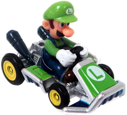 Super Mario Mario Kart Ertl Luigi Diecast Vehicle [Go-Kart]