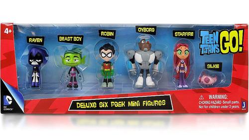 Teen Titans Go! Teen Titans 2-Inch Mini Figure Deluxe 6-Pack