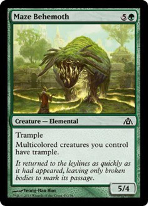 MtG Dragon's Maze Common Maze Behemoth #43