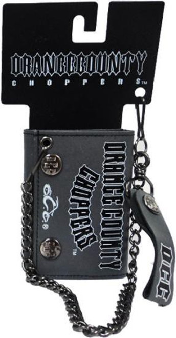 Orange County Choppers Leather Chain Wallet [Gray]