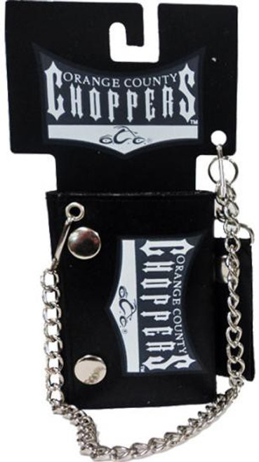 Orange County Choppers Leather Chain Wallet [Black]