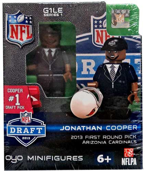 Arizona Cardinals NFL 2013 Draft First Round Picks Johnathan Cooper Minifigure
