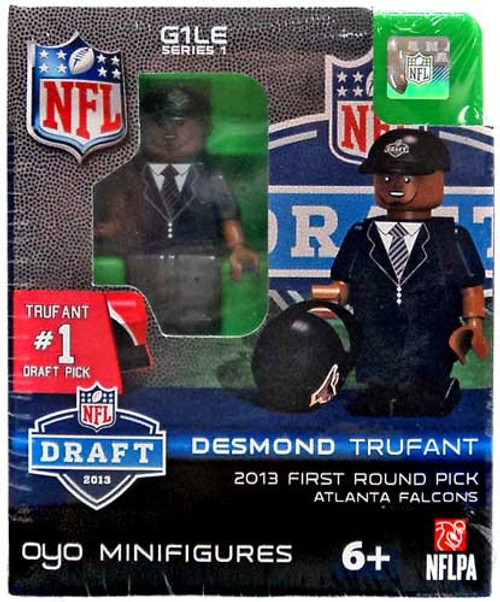 Atlanta Falcons NFL 2013 Draft First Round Picks Desmond Trufant Minifigure