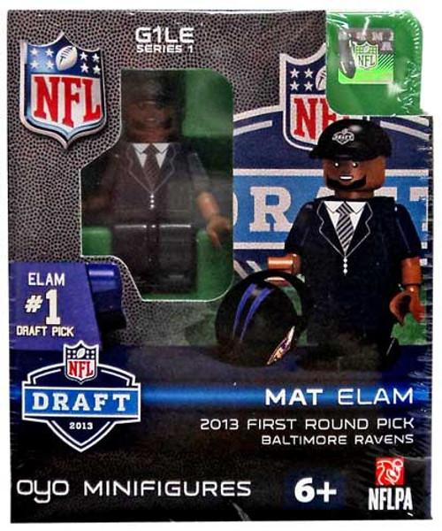 Baltimore Ravens NFL 2013 Draft First Round Picks Mat Elam Minifigure