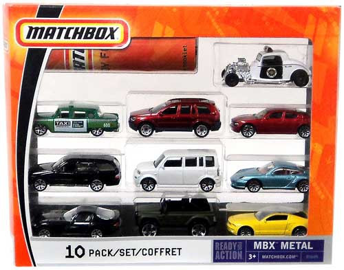 Matchbox Ready for Action MBX Metal Diecast Vehicle 10-Pack [B5609]