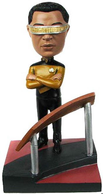 Star Trek: The Next Generation Build a Bridge Georfi Laforge 7-Inch Bobble Head