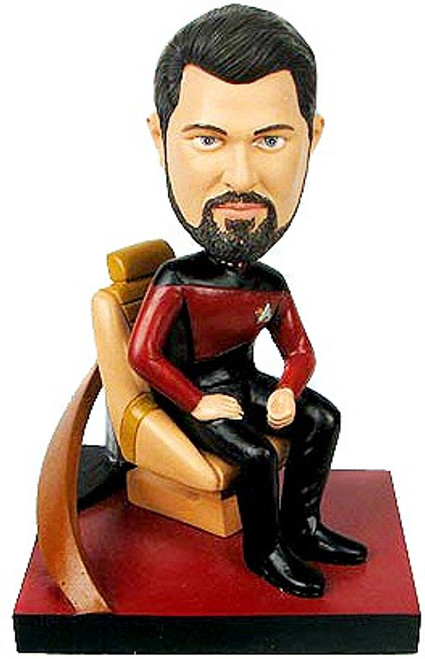 Star Trek: The Next Generation Build a Bridge William Riker 7-Inch Bobble Head