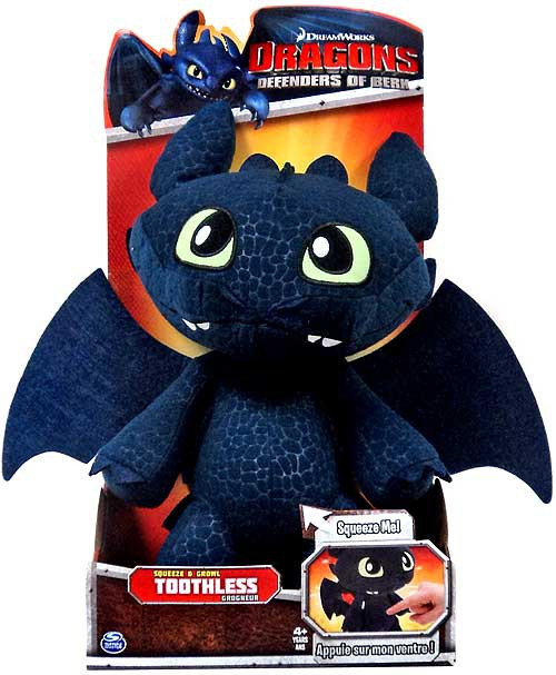 How to Train Your Dragon Defenders of Berk Toothless 12-Inch Plush [Squeeze & Growl]