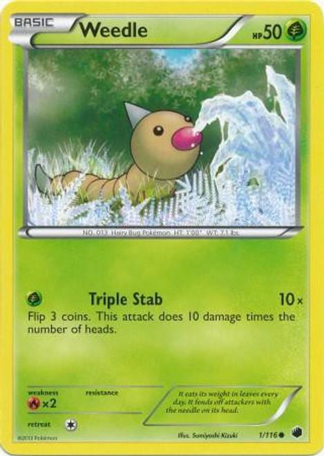 Pokemon Black & White Plasma Freeze Common Weedle #1
