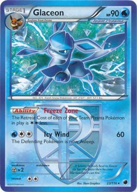 Pokemon Black & White Plasma Freeze Rare Glaceon #23