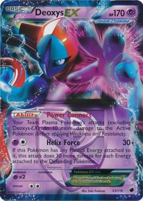 Pokemon Black & White Plasma Freeze Ultra Rare Deoxys EX #53